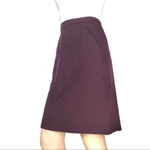 Loft Burgundy Skirt